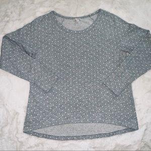 Light gray dot sweater